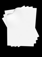 Sheets of paper.