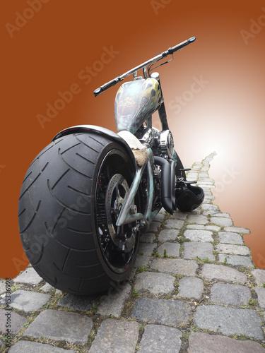 chopper motorrad illustration stockfotos und. Black Bedroom Furniture Sets. Home Design Ideas