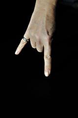 gesture on black
