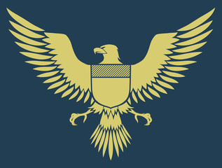 coat-of-arms bird - Medieval Eagle of my own design