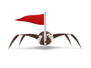 Ant with a flag