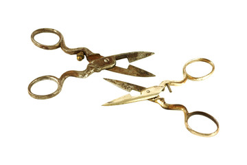 Scissors facing each other