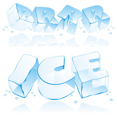 ice cube letters