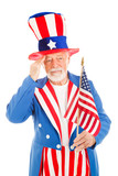 Uncle Sam Salutes America Flag poster