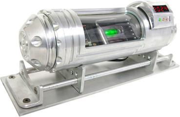 futuristic digital bomb device isolated angle