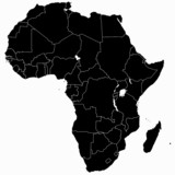 Africa detailed vector map (separated countries)