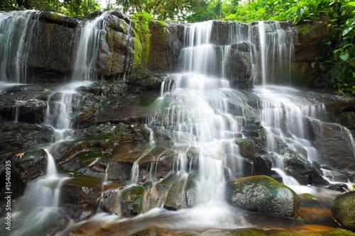 Fototapeta beautiful small waterfalls