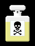Perfume flask with toxic liquid poster