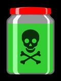 Jar with toxic liquid poster