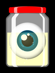 Jar with eyeball