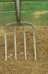 garden pitch fork tool