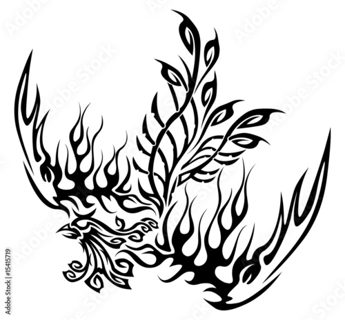 Tattoo with phoenix
