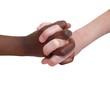 main noire main blanche ensemble