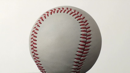 Baseball isolated against white loop