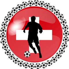 illustration eines fussball buttons schweiz