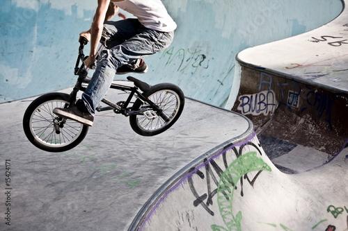 Keuken foto achterwand Fietsen BMX im Skatepark