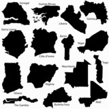 Western Africa countries vector map