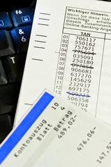 TAN-Liste und Kontoauszug