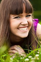 Portrait of pretty smiling girl