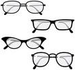 Eyeglasses – Vector illustrations - 15433723