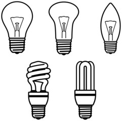 Light Bulbs – Vector illustration