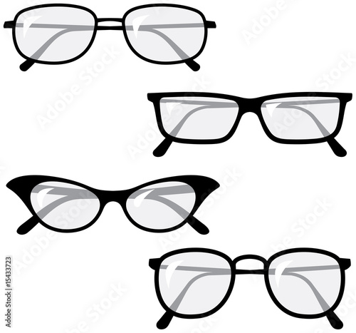 Eyeglasses – Vector illustrations - 15433723