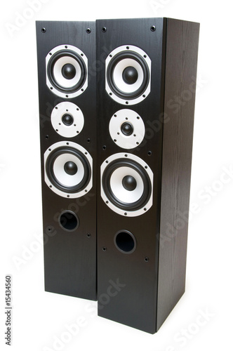 Two speakers isolated on the white background