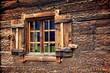 Leinwanddruck Bild - Holzfenster - wooden window