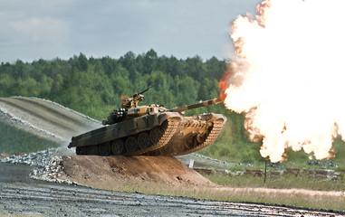 shooting russian tank