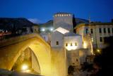 The Old Bridge at night, Mostar, Bosnia-Herzegovina poster