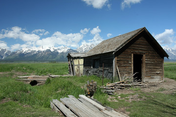 Cabin Grand Teton Wyoming usa