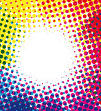 Fototapety Colorful halftone dots background with empty space