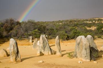 Rainbow over the pinnacles