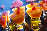 Party fruit daiquiris and shooters
