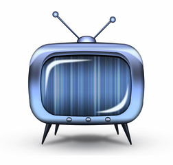 Glossy retro tv