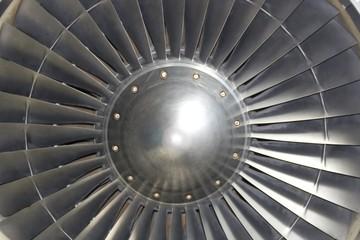 Turbine von Flugzeug