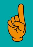 Comic Hand erhobener Zeigefinger - 15443118