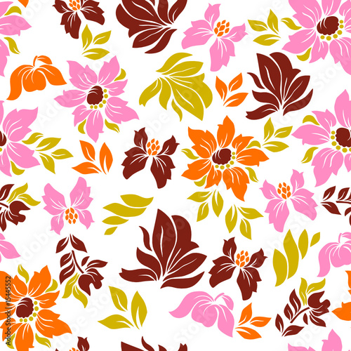 Seamless hawaiian flower pattern