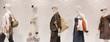Fashion mannequins in window - 15450947