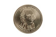 John Adams dollar coin with clipping path