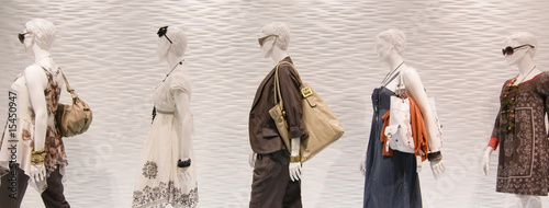 canvas print picture Fashion mannequins in window