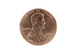 Abraham Lincoln cent coin with clipping path