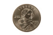 Sacajawea Golden Dollar coin with clipping path