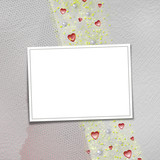 Card for anniversary or congratulation with  pearls and  hearts poster