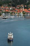 Small croatian town of Skradin on Krka river, Dalmatian coast poster