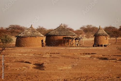 Papiers peints Autre Afrique traditionelle Hütten in Burkina Faso