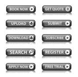 Web buttons (miscellaneous) (black) x10 poster