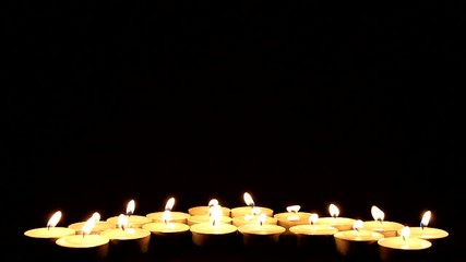 Many candles in the darkness