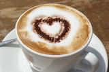 Fototapety Kaffee mit Herz