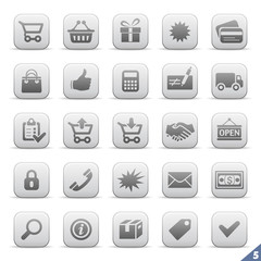Icon set 5 | E-commerce full pack | Saturn series